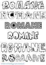 Imprimer le coloriage : Romane, numéro 2f35698
