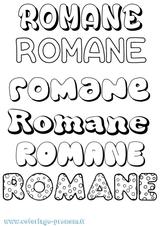 Imprimer le coloriage : Romane, numéro 7c74635b