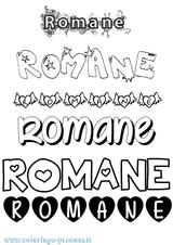 Imprimer le coloriage : Romane, numéro c091643f
