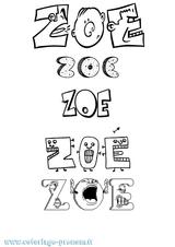 Imprimer le coloriage : Zoé, numéro 4d094ea8