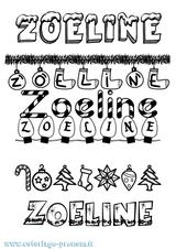 Imprimer le coloriage : Zoé, numéro c118a73a