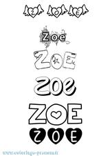 Imprimer le coloriage : Zoé, numéro ee09b6bd