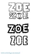 Imprimer le coloriage : Zoé, numéro f89f0541
