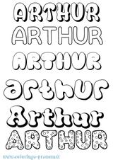 Imprimer le coloriage : Arthur, numéro a641f899