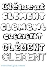 Imprimer le coloriage : Clément, numéro 44553888