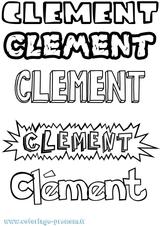 Imprimer le coloriage : Clément, numéro 6b3e6b3