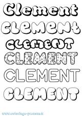 Imprimer le coloriage : Clément, numéro 7688d809