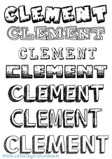 Imprimer le coloriage : Clément, numéro 783543e7