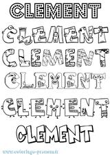 Imprimer le coloriage : Clément, numéro 7a4ee16a