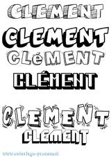 Imprimer le coloriage : Clément, numéro 87d2fb35