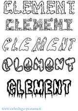 Imprimer le coloriage : Clément, numéro e66b1c58