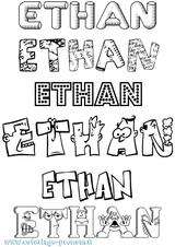 Imprimer le coloriage : Ethan, numéro 5f8cc37c