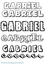 Imprimer le coloriage : Gabriel, numéro 6084638c