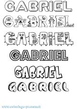 Imprimer le coloriage : Gabriel, numéro ae2596f6