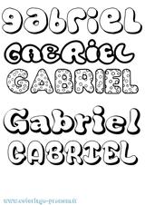 Imprimer le coloriage : Gabriel, numéro b0af1a35