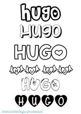 Imprimer le coloriage : Hugo, numéro 61523227