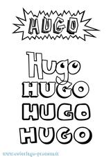 Imprimer le coloriage : Hugo, numéro 9a88c12b