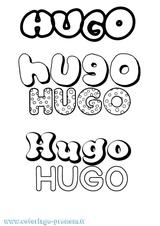 Imprimer le coloriage : Hugo, numéro ef5ae403