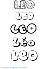 Imprimer le coloriage : Léo, numéro 17d12f5