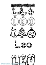 Imprimer le coloriage : Léo, numéro 2f7beac0