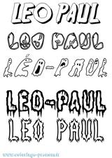 Imprimer le coloriage : Léo, numéro 394230a7