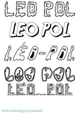 Imprimer le coloriage : Léo, numéro 66ed21ec