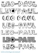 Imprimer le coloriage : Léo, numéro 730c7e8d