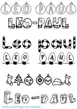 Imprimer le coloriage : Léo, numéro b60523ab