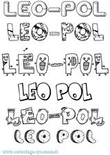 Imprimer le coloriage : Léo, numéro d76c799e