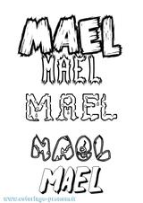 Imprimer le coloriage : Maël, numéro 4e3d4c57