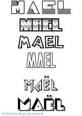 Imprimer le coloriage : Maël, numéro b2c00ba1