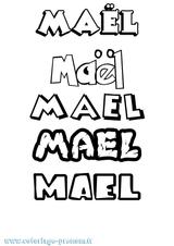 Imprimer le coloriage : Maël, numéro c7bf8b7a