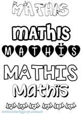 Imprimer le coloriage : Mathis, numéro f089615b
