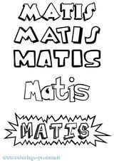Imprimer le coloriage : Mathis, numéro fc8a7915