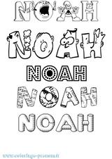 Imprimer le coloriage : Noah, numéro b1e75b3c