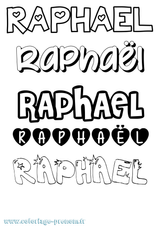 Imprimer le coloriage : Raphaël, numéro a90c3871
