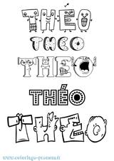 Imprimer le coloriage : Théo, numéro 8f9070d9