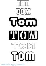 Imprimer le coloriage : Tom, numéro 33274f4
