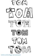 Imprimer le coloriage : Tom, numéro 5d8d9fa7