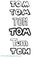 Imprimer le coloriage : Tom, numéro f455b95f