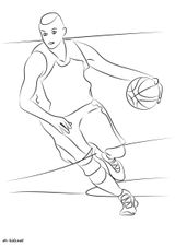 Imprimer le coloriage : Basketball, numéro 1ec78ddb