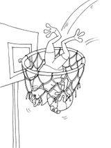 Imprimer le coloriage : Basketball, numéro 459891