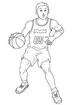 Imprimer le coloriage : Basketball, numéro 459909