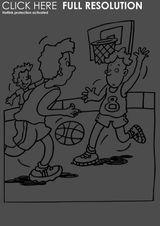 Imprimer le coloriage : Basketball, numéro 469828