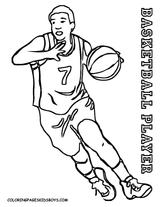 Imprimer le coloriage : Basketball, numéro 47a54631