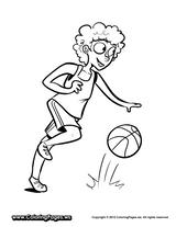 Imprimer le coloriage : Basketball, numéro 4c5a6f24