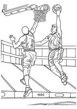 Imprimer le coloriage : Basketball, numéro 571079