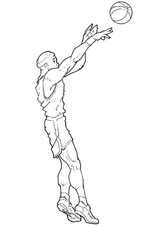 Imprimer le coloriage : Basketball, numéro 571080