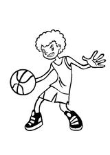 Imprimer le coloriage : Basketball, numéro 585466