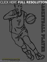 Imprimer le coloriage : Basketball, numéro 6451748